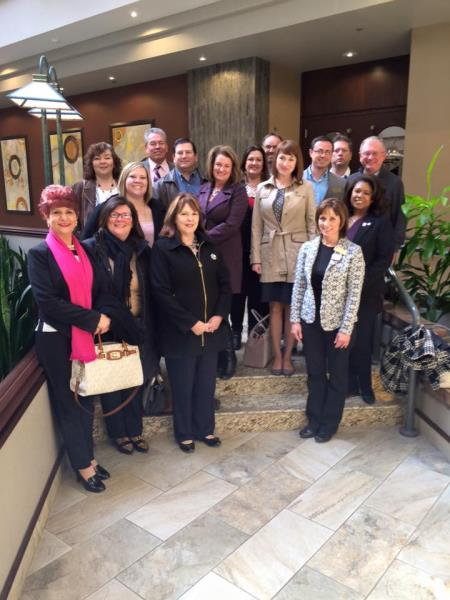REALTORS and Affiliates attend the 2016 Legislative Bus-In