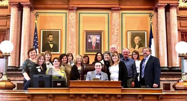 REALTORS and Affiliates attend the 2017 Legislative Bus-In